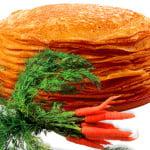 Блины на морковном соку