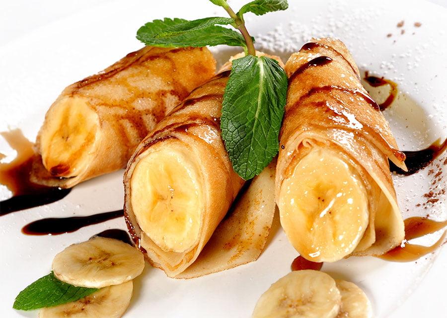 Блины с бананом