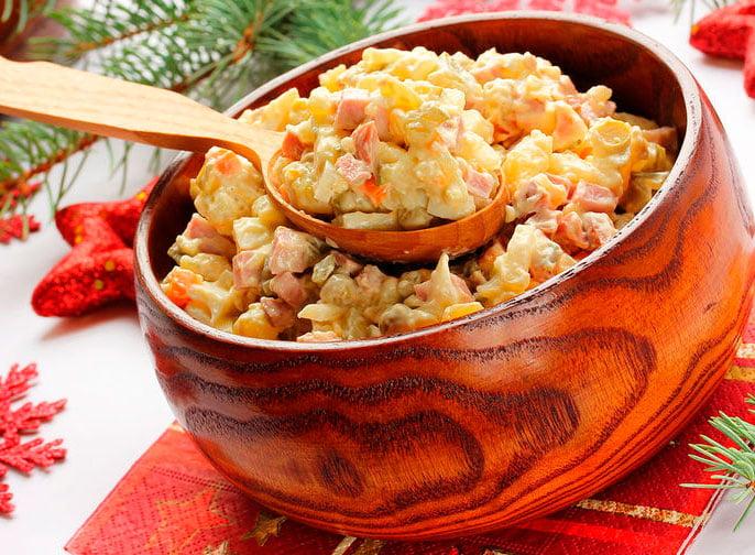 Рецепт салата оливье Эрмитаж