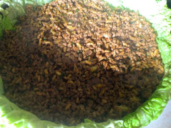 Рецепт пирога с мясом и капустой