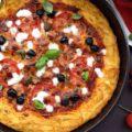 Спагетти пицца -макароны с сыром и помидорами