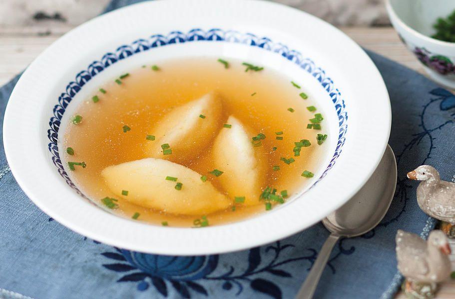 Суп с клёцками из семолины