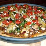 Пицца в средиземноморском стиле