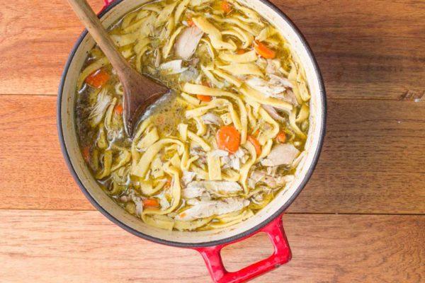 Куриный суп с домашней лапшой (5)