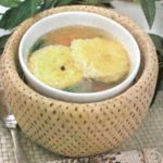 Суп из репы и фасоли с запеченным рисом